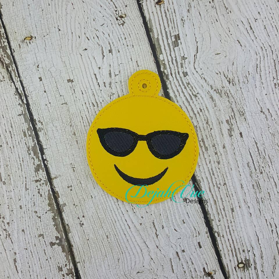 cool emoji ornament