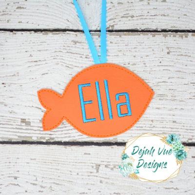 FISH ORNAMENT EMBROIDERY DESIGN